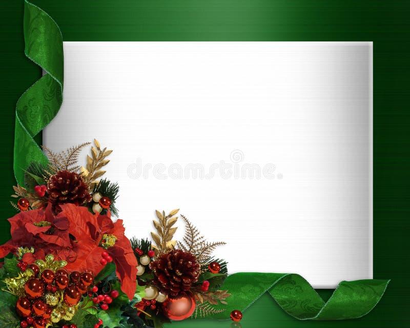 Projeto de canto elegante da beira do Natal ilustração do vetor