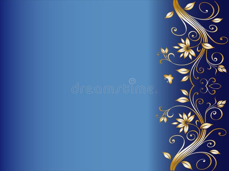 Projeto de canto floral para o casamento ilustração royalty free