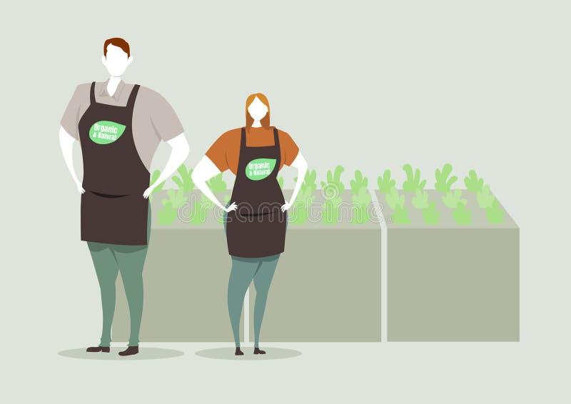 Projeto de caráter orgânico da loja da exploração agrícola ilustração stock