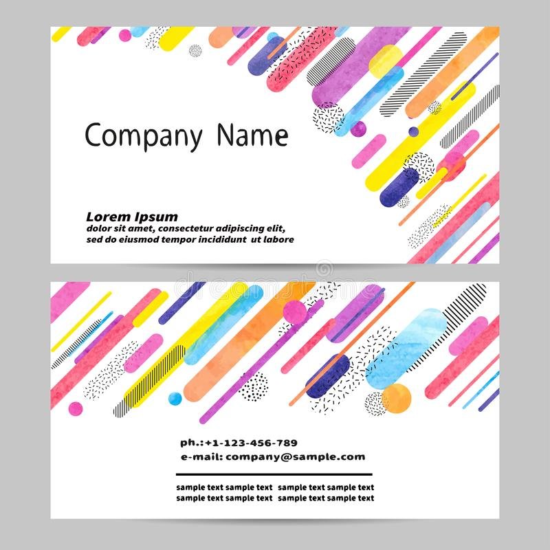Projeto de cartão com formas geométricas abstratas coloridas ilustração do vetor