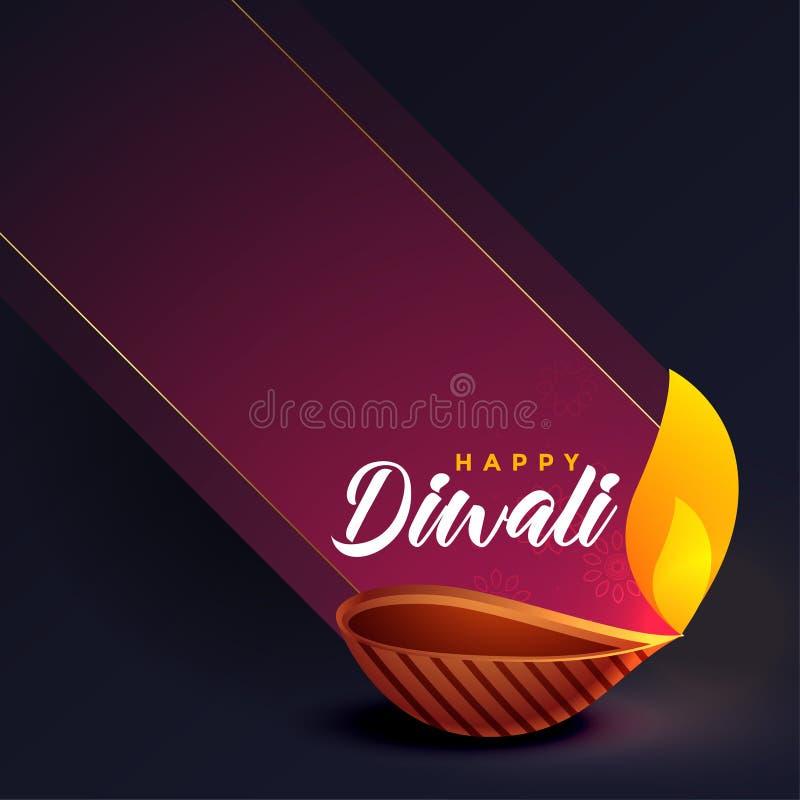 Projeto de cartão criativo do festival à moda do diwali ilustração royalty free