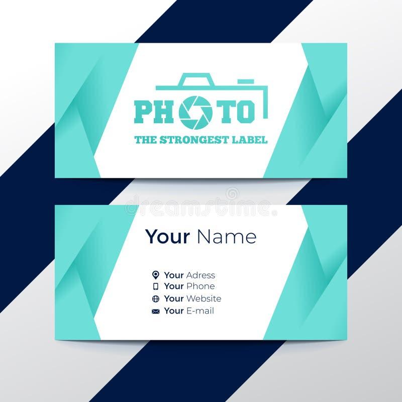 Projeto de cartão criativo e profissional, cartão de visita limpo, cartão do contato e molde do projeto de cartão do nome ilustração stock