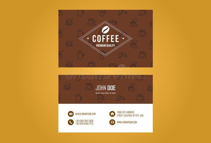 Projeto de cartão da casa do café ilustração do vetor