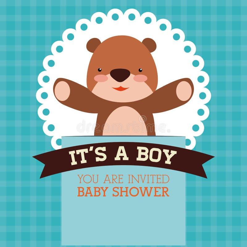 Projeto de cartão da festa do bebê ilustração stock