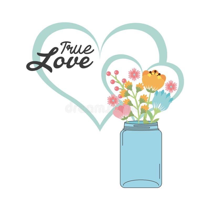 Projeto de cartão do amor ilustração do vetor