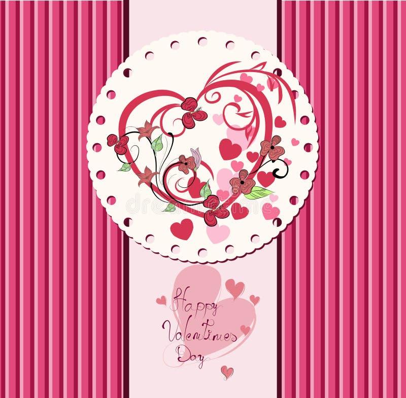 Download Projeto De Cartão Do Dia De Valentim. Ilustração do Vetor - Ilustração de retro, invitation: 29841460