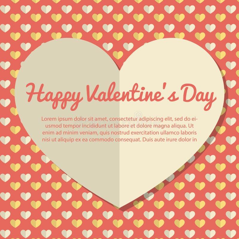 Projeto de cartão do dia de Valentim do molde ilustração do vetor