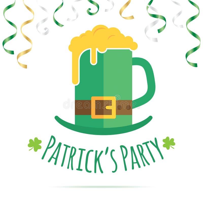 Projeto de cartão do dia do St Patricks ilustração stock