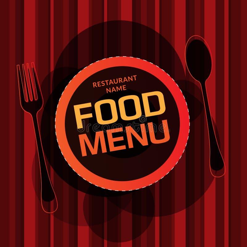Projeto de cartão do menu do restaurante ilustração royalty free