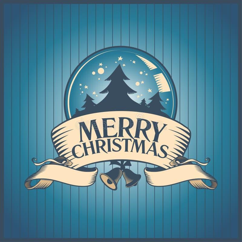 Projeto de cartão do Natal. ilustração stock