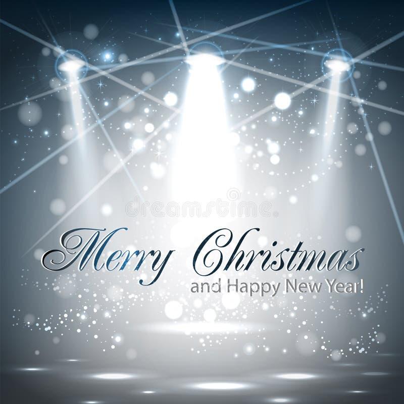 Projeto de cartão do Natal ilustração do vetor