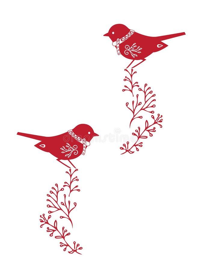 Projeto de cartão do Natal Ilustração desenhada mão ilustração stock