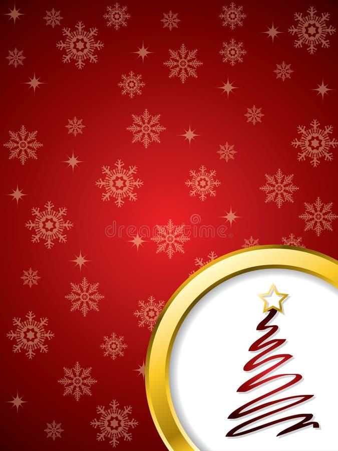 Projeto de cartão do Natal no vermelho ilustração do vetor