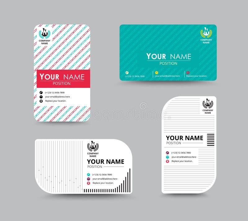 Projeto de cartão do nome da empresa para o corporaçõ Carde o molde Vetor ilustração do vetor