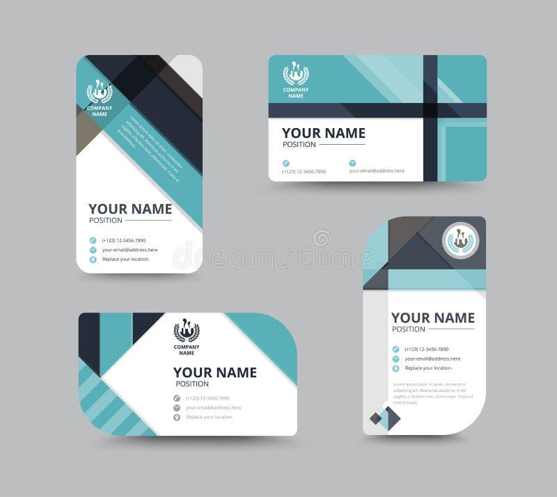 Projeto de cartão do nome da empresa para o corporaçõ Carde o molde Vetor ilustração stock