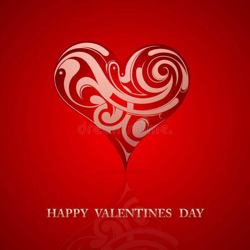 Projeto de cartão do Valentim do St ilustração stock
