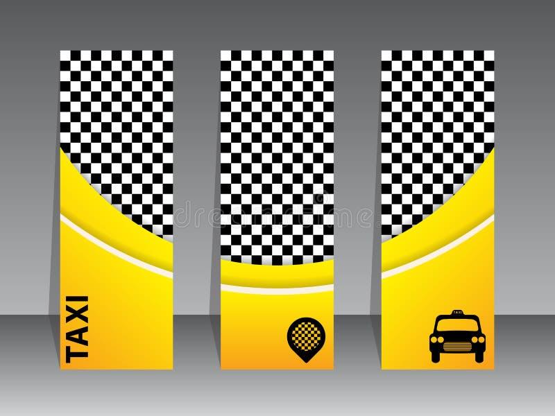 Projeto de cartão para empresas do táxi ilustração stock