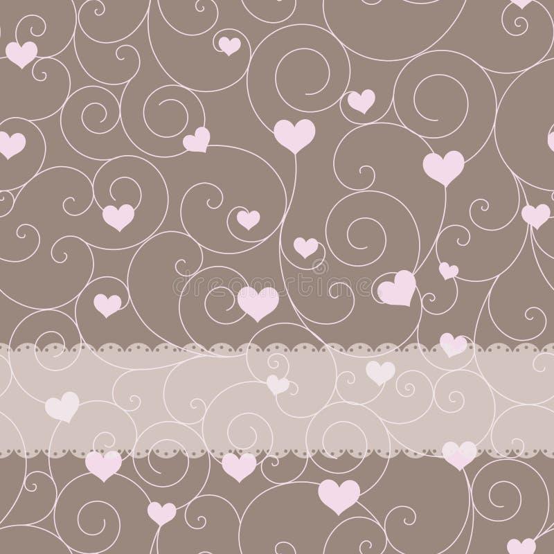 Projeto de cartão para o dia do casamento ou do Valentim ilustração do vetor