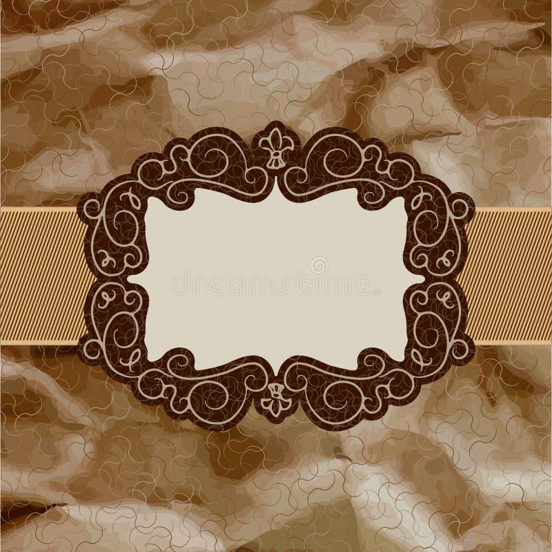 Projeto de cartão velho, frame marrom do vintage. EPS 8 ilustração do vetor