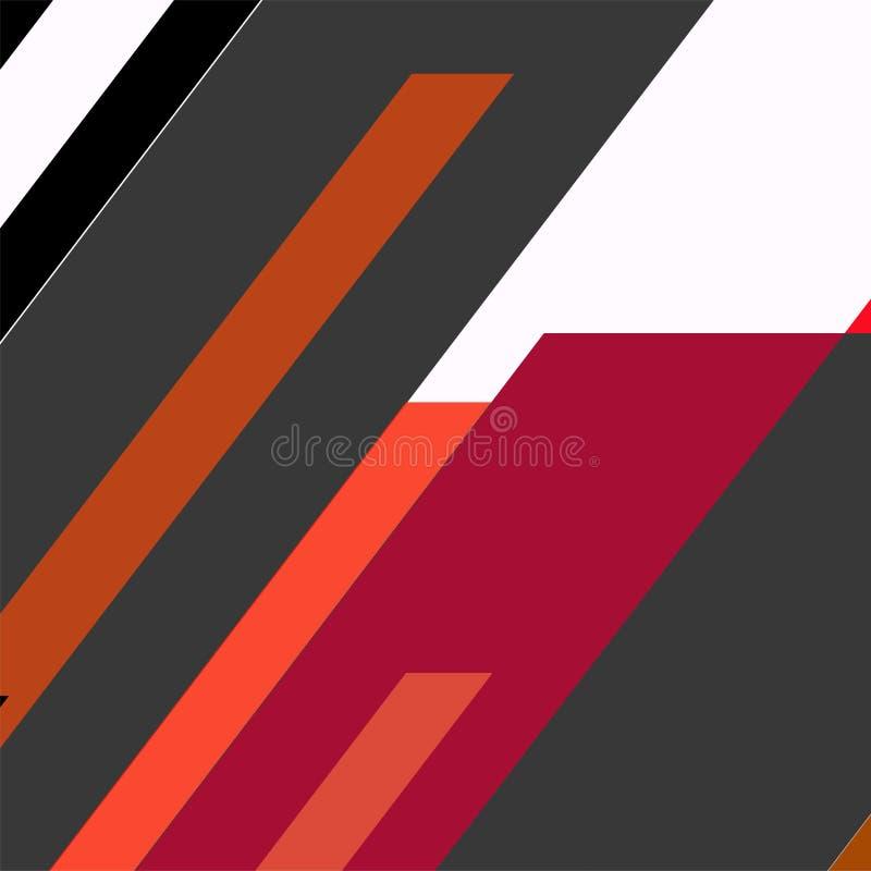 Projeto de cartões geométrico na moda de memphis dos elementos Textura retro, teste padrão e elementos do estilo Cartaz abstrato  ilustração stock