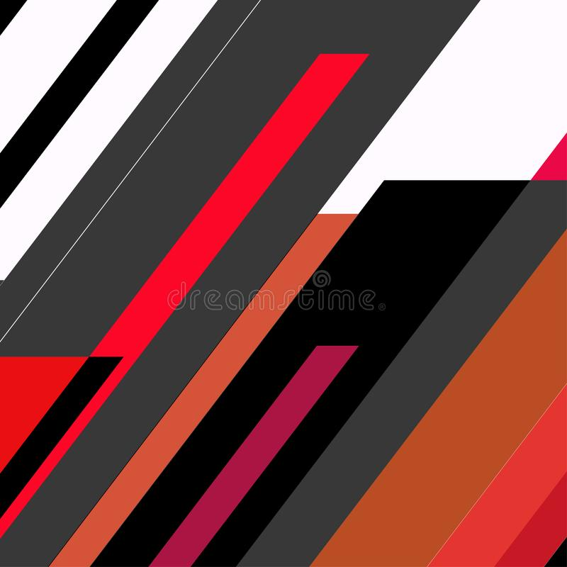Projeto de cartões geométrico na moda de memphis dos elementos Textura retro, teste padrão e elementos do estilo Cartaz abstrato  ilustração royalty free
