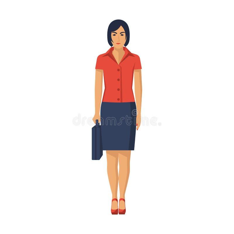 Projeto de Character da mulher de negócios ilustração stock