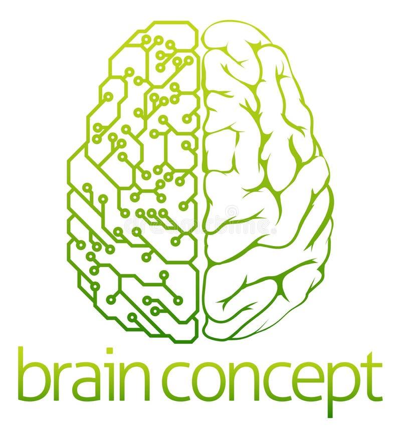 Projeto de circuito bonde do cérebro ilustração do vetor