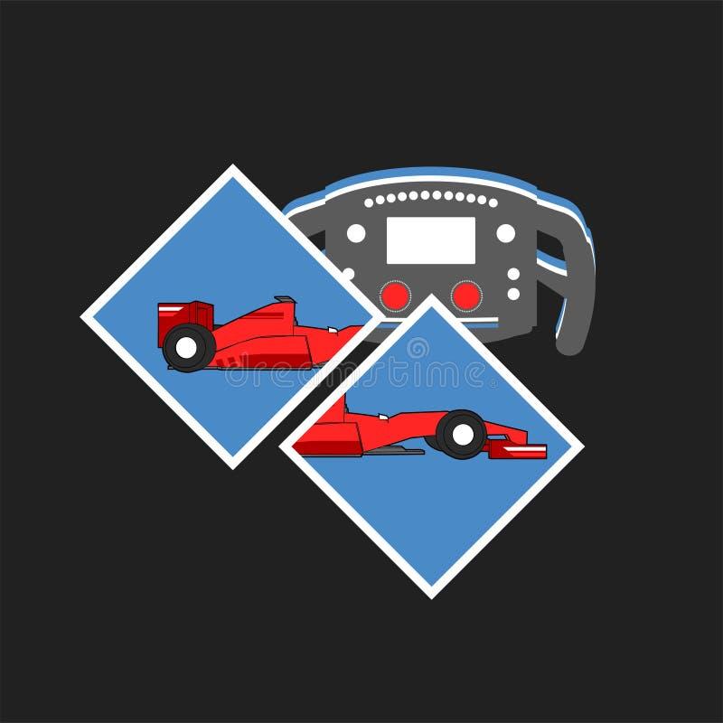 Projeto de competir a ilustração do motorsport ilustração royalty free