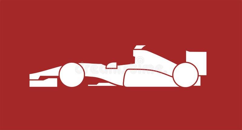 Projeto de competir o carro de fórmula ilustração stock