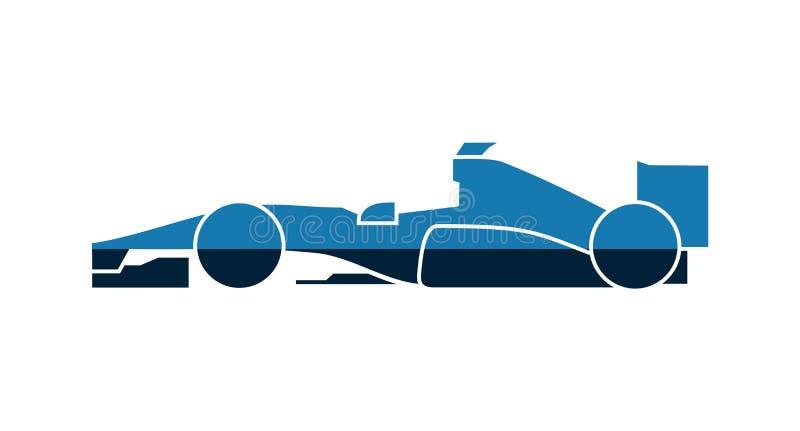 Projeto de competir o carro de fórmula ilustração royalty free