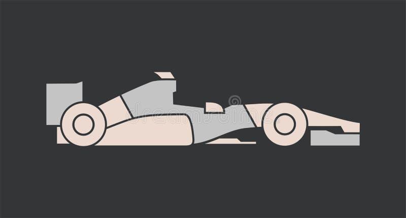 Projeto de competir o carro de fórmula ilustração do vetor