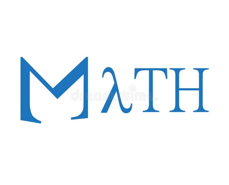Projeto de conceito da matemática ilustração stock