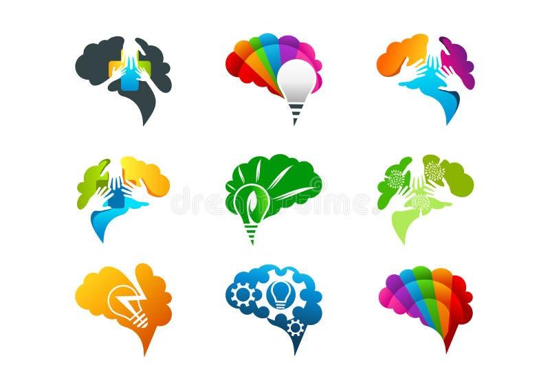 Projeto de conceito do cérebro ilustração do vetor