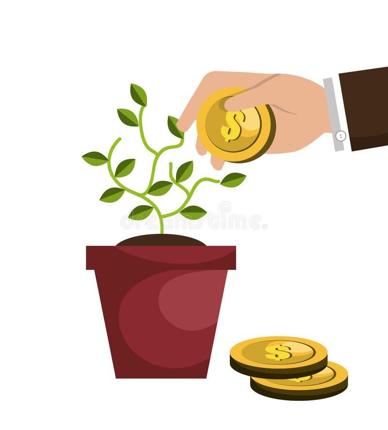 projeto de conceito do financiamento ilustração do vetor