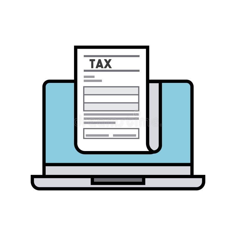 Projeto de conceito do imposto ilustração do vetor