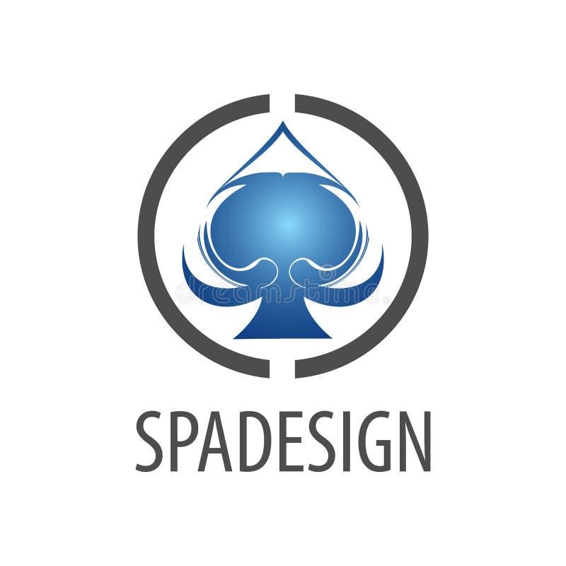 Projeto de conceito do logotipo do sinal da pá do círculo Elemento gráfico do molde do símbolo ilustração royalty free