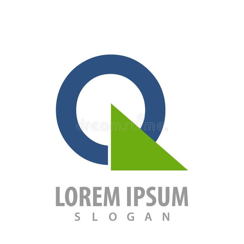Projeto de conceito do logotipo do triângulo do círculo Vetor gráfico do elemento do molde do símbolo ilustração stock