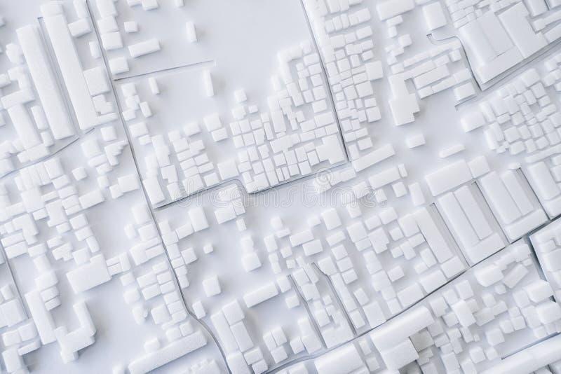 Projeto de conceito modelo da arquitetura da cidade de Urban da arquitetura imagens de stock royalty free