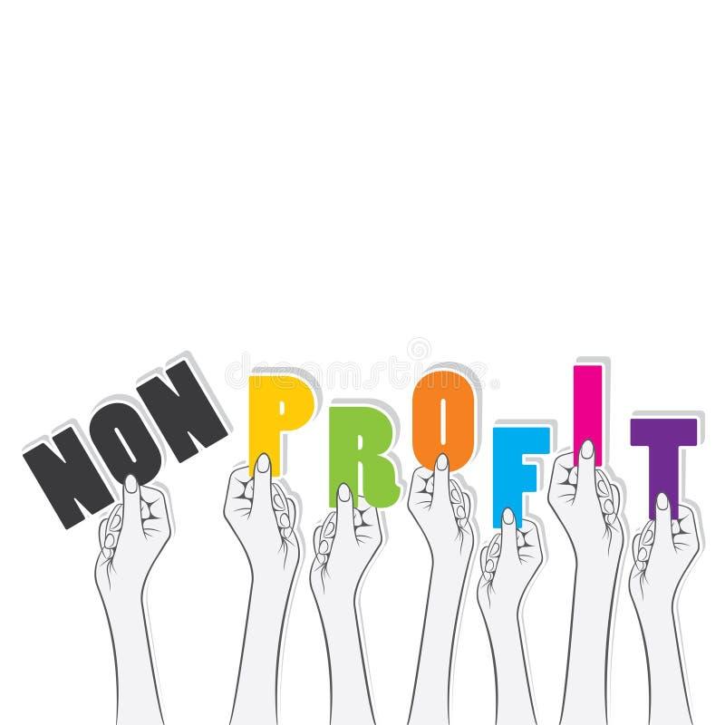 Projeto de conceito não lucrativo do lucro da volta ilustração stock
