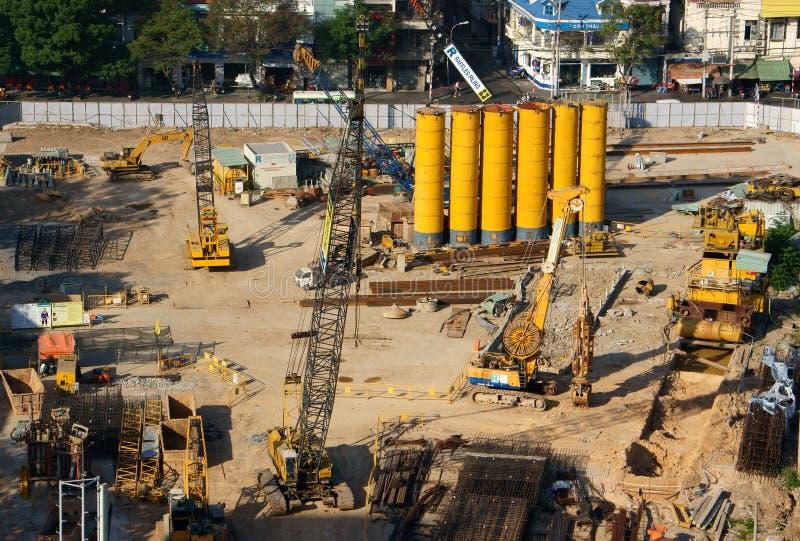 Projeto de construção, Ho Chi Minh, Vietname imagem de stock royalty free
