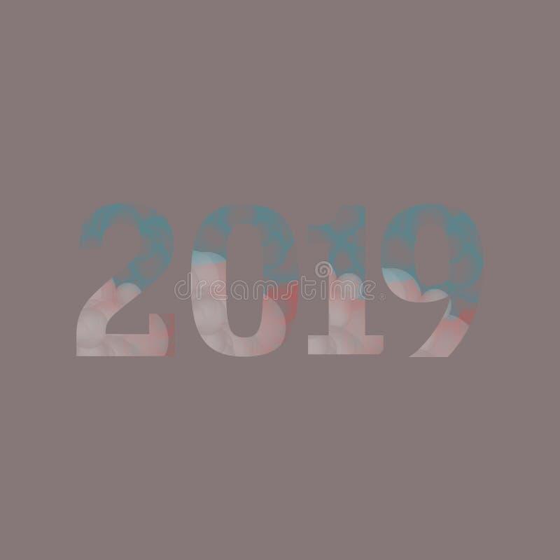 Projeto de 2019 dígitos do vetor ilustração royalty free