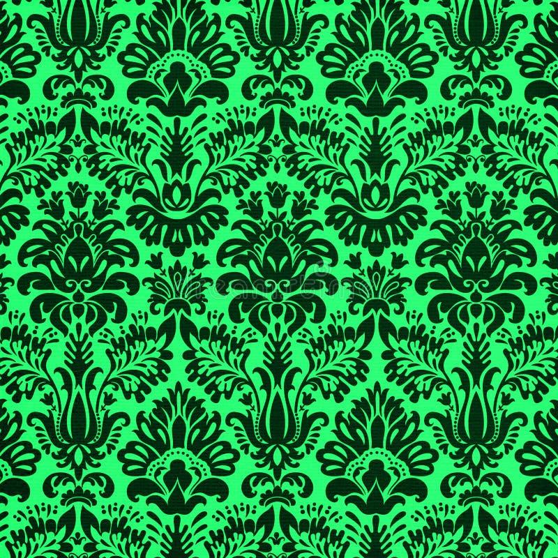 Projeto de Damsask no verde ilustração stock