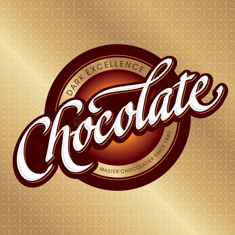 Projeto de empacotamento do chocolate (vetor) ilustração royalty free