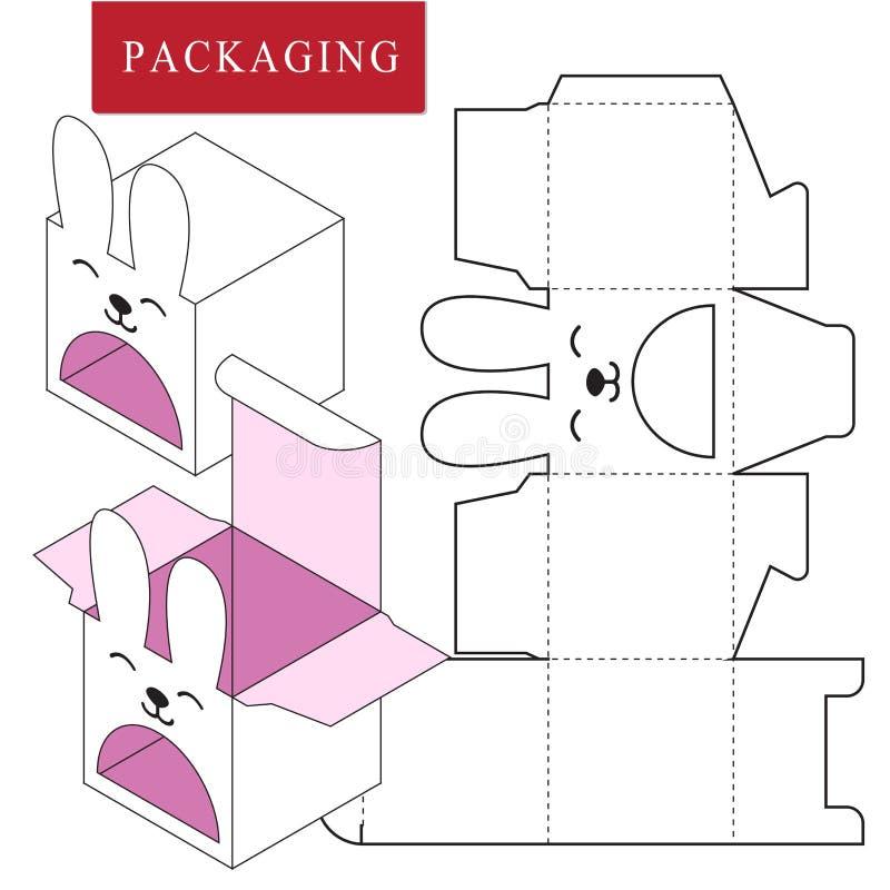 Projeto de empacotamento Ilustra??o do vetor da caixa ilustração stock
