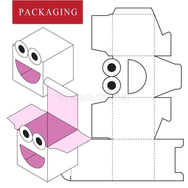 Projeto de empacotamento Ilustra??o do vetor da caixa ilustração royalty free