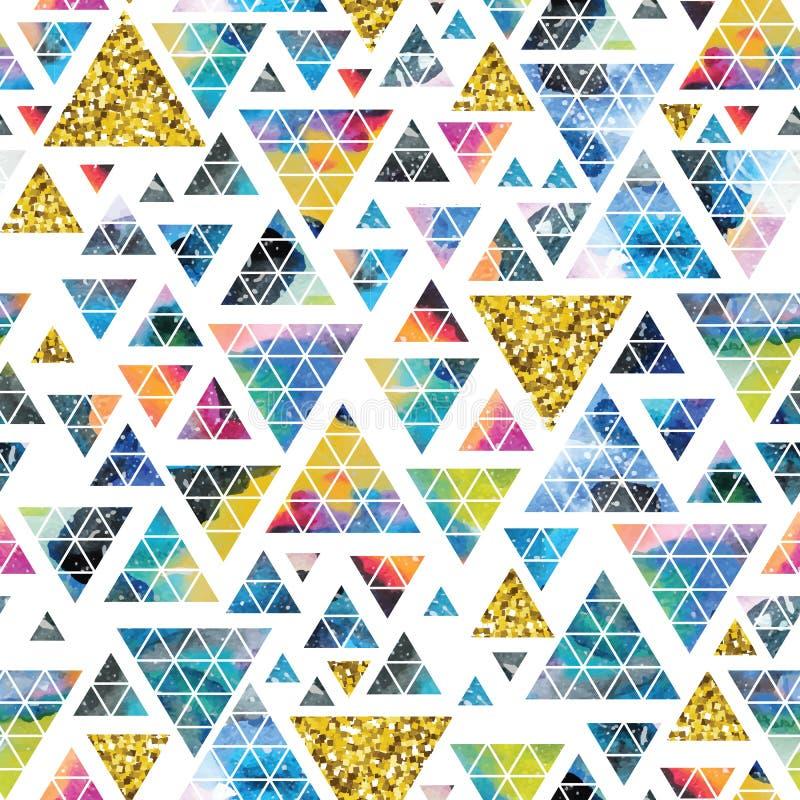 Projeto de espaço triangular Ornamento abstrato da aquarela ilustração do vetor