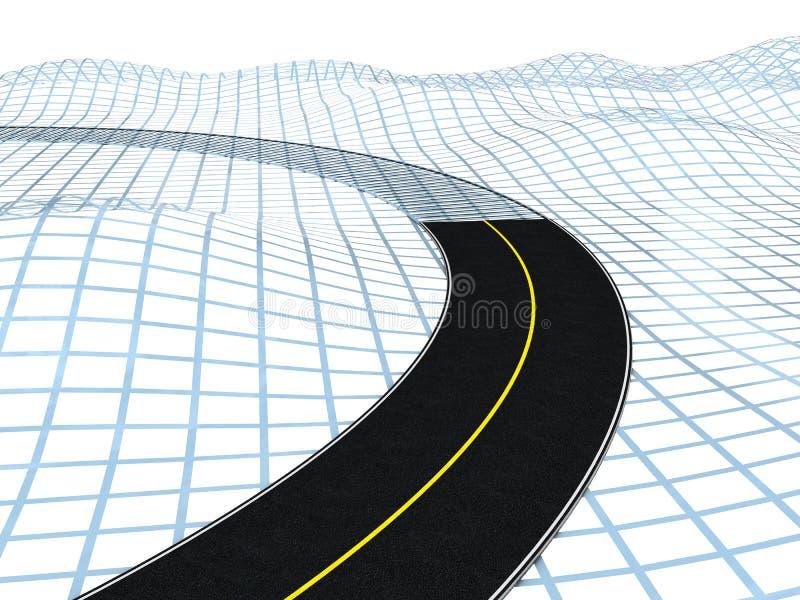 Projeto de estrada ilustração royalty free