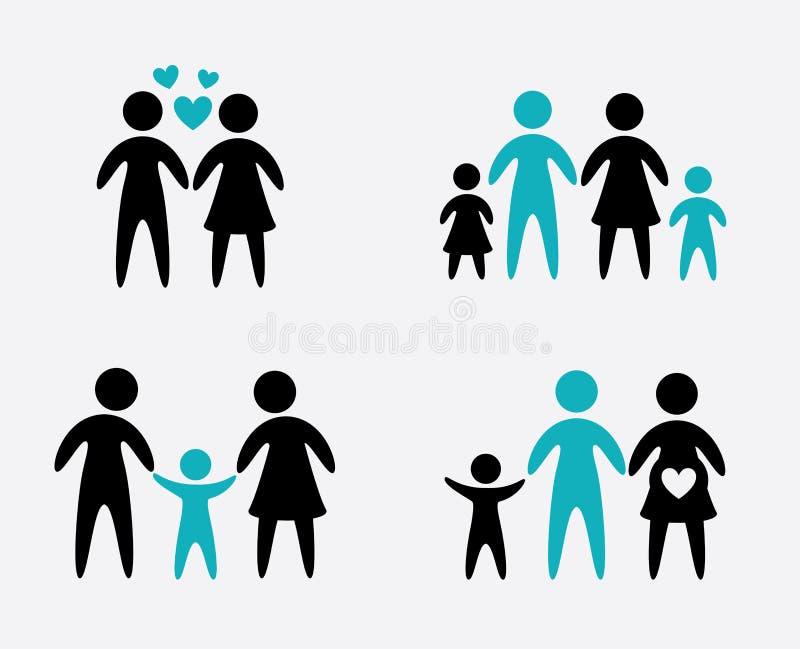 Projeto de Familiy ilustração stock