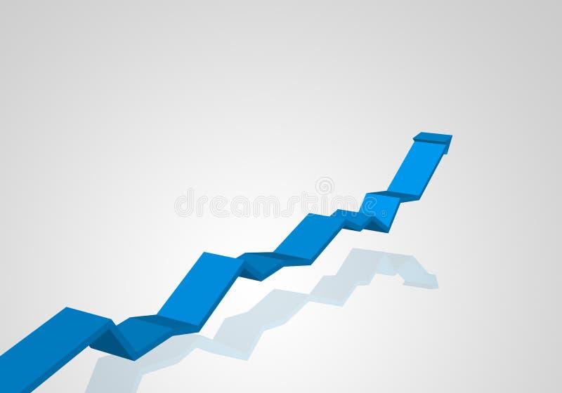 Projeto de gráficos criativo do crescimento do negócio ilustração do vetor