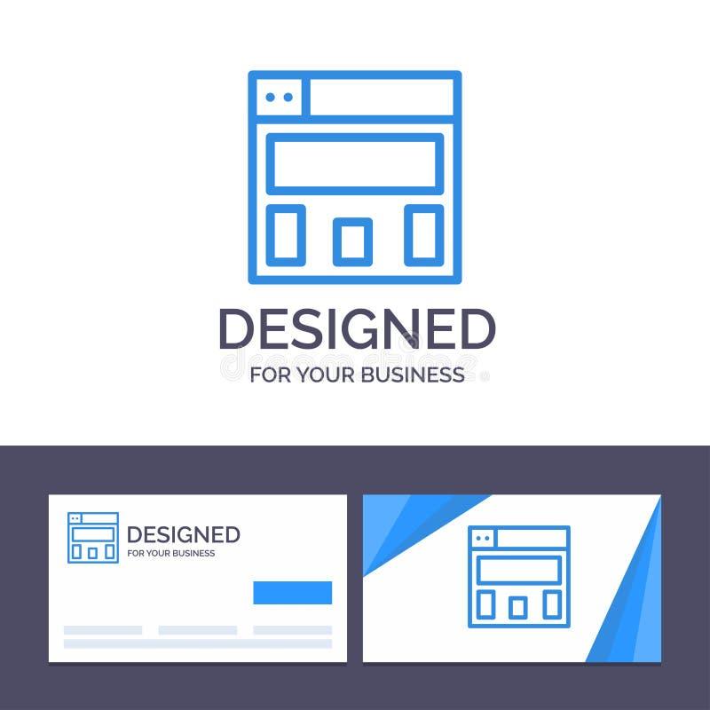 Projeto de gráficos do molde criativo do cartão e do logotipo, ilustração do vetor da disposição ilustração stock